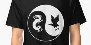 Dragon and the Hawk Tshirt